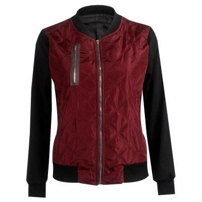 Autumn Winter Fashion Zipper Quilted Individuality Small Coat Jacket
