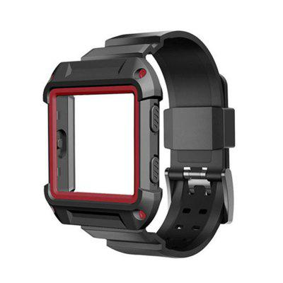 Para Fitbit Blaze Band Silicone Strap para Fitbit Blaze Frame Case Cover Holder Shell Strap