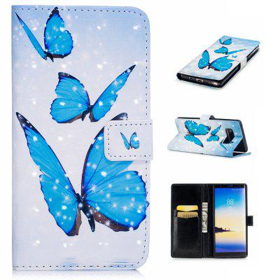 Cover Case for Samsung Galaxy Note 8 3D Effect Painted PU Leather