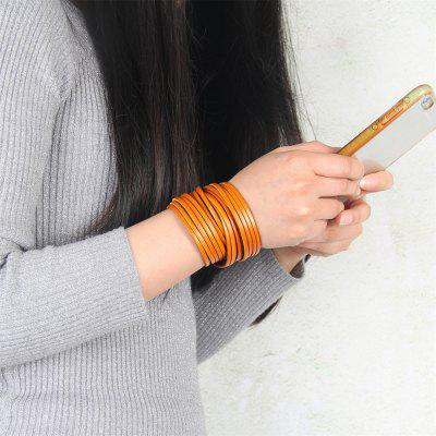 Hot Marketing Creative Multi Level Two Ring Cowhide BraceletBracelets &amp; Bangles<br>Hot Marketing Creative Multi Level Two Ring Cowhide Bracelet<br><br>Bracelet: None<br>Closure Type: Toggle clasps<br>Diameter of Bangle: 6cm<br>Gender: Unisex<br>Item Type: Bangle<br>Length of Chain: 43cm<br>Package Contents: 1 x Bracelet<br>Package size (L x W x H): 22.00 x 5.00 x 3.00 cm / 8.66 x 1.97 x 1.18 inches<br>Package weight: 0.0310 kg<br>Product size (L x W x H): 43.00 x 3.30 x 3.00 cm / 16.93 x 1.3 x 1.18 inches<br>Shape/Pattern: Gemetric<br>Style: Vintage