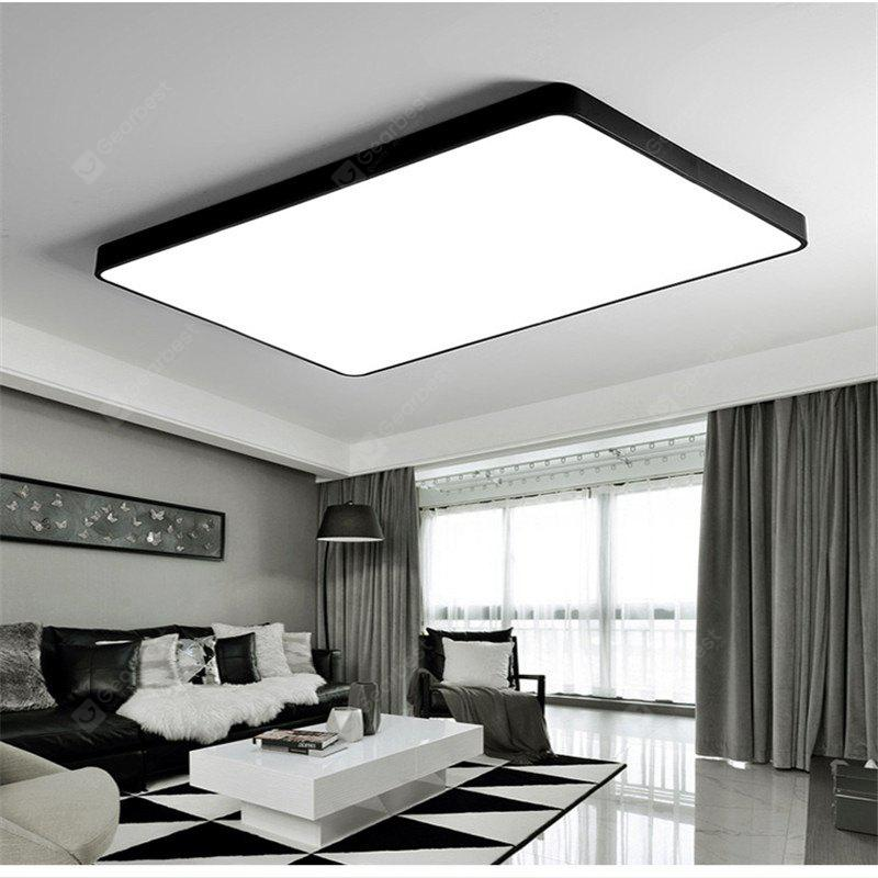 Black frame 48 watts super thin modern simple bedroom balcony black frame 48 watts super thin modern simple bedroom balcony sitting room led ceiling lamp 65 mozeypictures Choice Image