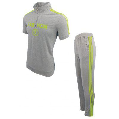 MenS Spring Summer Fashion Casual Sports Outdoor Fitness Pants Two-Piece SuitSports Clothing<br>MenS Spring Summer Fashion Casual Sports Outdoor Fitness Pants Two-Piece Suit<br><br>Elasticity: Elastic<br>Material: Cotton<br>Package Contents: 1X T-shirt 1x pants<br>Pattern Type: Solid<br>Weight: 0.4000kg