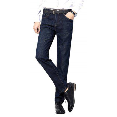 All-Match Moda Business Men's Jeans Casual Pants