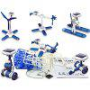6 in 1 DIY Science Educational Solar Energy Robots Kit Plane Windmill Airboat Car Helicopter Toy - BLUE