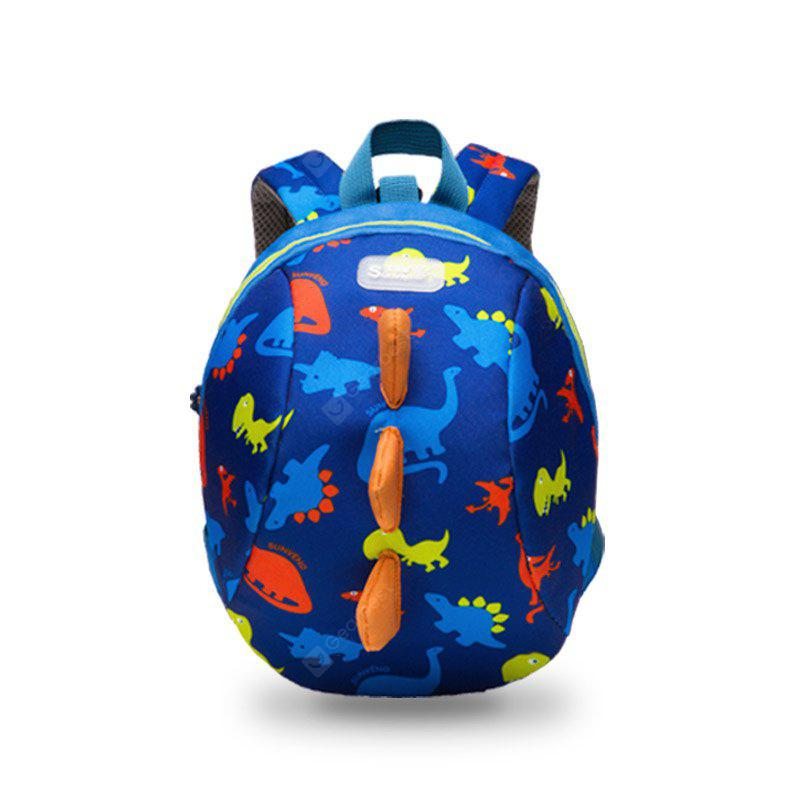 BLUE SUNVENO Cute Cartoon Toddler Baby Harness Backpack Leash Safety Anti-lost Backpack Strap Walker Dinosaur Backpack childr