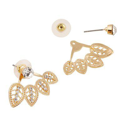 The Leaves Are Hollowed with Diamond-Encrusted EarringsEarrings<br>The Leaves Are Hollowed with Diamond-Encrusted Earrings<br><br>Back Finding: Push-back<br>Earring Type: Stud Earrings<br>Gender: For Women<br>Material: Zinc Alloy<br>Metal Type: Zinc Alloy<br>Occasion: Party<br>Package Contents: 1 x pair of earring<br>Package size (L x W x H): 1.00 x 1.00 x 1.00 cm / 0.39 x 0.39 x 0.39 inches<br>Package weight: 0.0180 kg<br>Product weight: 0.0080 kg<br>Setting Type: None<br>Shape/Pattern: Geometric<br>Style: Classic<br>Surface Plating: 14K Gold Plated