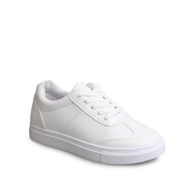 Buy WHITE 38 Autumn and Winter New Female Low-End Students Round Head Leisure Joker Breathable Running Small White Shoes for $30.87 in GearBest store