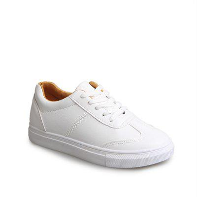 Autumn and Winter New Female Low-End Students Round Head Leisure Joker Breathable Running Small White Shoes