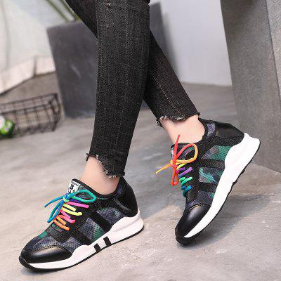 New Thick Bottom Frenulum WomenS Shoes Leisure Sports Shoes Rainbow Single Shoe TideWomens Sneakers<br>New Thick Bottom Frenulum WomenS Shoes Leisure Sports Shoes Rainbow Single Shoe Tide<br><br>Available Size: 35-----39<br>Closure Type: Lace-Up<br>Feature: Breathable<br>Gender: Unisex<br>Outsole Material: Rubber<br>Package Contents: 1xShoes(pair)<br>Package size (L x W x H): 33.00 x 26.00 x 14.00 cm / 12.99 x 10.24 x 5.51 inches<br>Package weight: 0.5200 kg<br>Pattern Type: Patchwork<br>Season: Spring/Fall<br>Upper Material: PU
