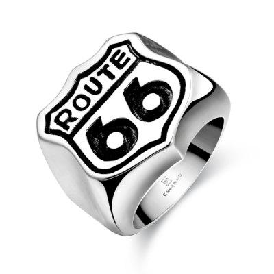Men'S Vintage Silver Black Stainless Steel Fashion Ring
