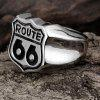 Men'S Vintage Silver Black Stainless Steel Fashion Ring - SILVER AND BLACK