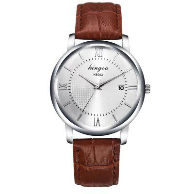 New Fashion Trend Luxury White Monocular Calendar Band Quartz Watch