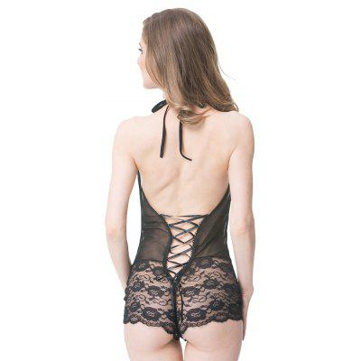 Fashion Design Black Sexy Perspective Lace Pajamas All-in-one Sleeper SuitsPajamas<br>Fashion Design Black Sexy Perspective Lace Pajamas All-in-one Sleeper Suits<br><br>Closure Type: Open<br>Clothing Length: Regular<br>Collar: V-Neck<br>Dresses Length: Mini<br>Embellishment: Lace,Backless,Solid Color<br>Gender: Girls<br>Material: Polyester<br>Package Contents: 1 x Pajamas<br>Pattern Type: Solid<br>Season: All seasons<br>Shirt Length: Short<br>Sleeve Length: Sleeveless<br>Style: Fashion, Sexy &amp; Club, Mature<br>Type: Slim<br>Weight: 0.0800kg