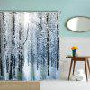 Snow in the Woods Polyester Shower Curtain Bathroom Curtain High Definition 3D Printing Water-Proof - COLORMIX