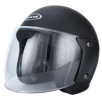 FERISH Norman Series Motorcycle Helmet and Electric car Helmet for Four Seasons can Wear Winter to Keep Warm and Cold