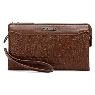 Crocodile Pattern Hommes Occasionnels Main Pochette Sac Business Long Portefeuille Affaires Long Portefeuille