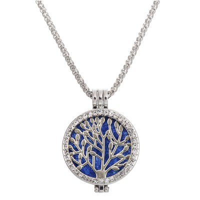 Fashion Christmas Gift Jewelry Scent Locket Tree of Life Aromatherapy Crystal NecklaceNecklaces &amp; Pendants<br>Fashion Christmas Gift Jewelry Scent Locket Tree of Life Aromatherapy Crystal Necklace<br><br>Gender: For Women<br>Item Type: Pendant Necklaces<br>Length of Chain: 75cm<br>Material: Crystal<br>Metal Type: Zinc Alloy<br>Necklace Type: Snake Chain<br>Package Contents: 1 x Necklace, 6 x Fragrance Mat<br>Package size (L x W x H): 11.00 x 8.00 x 1.00 cm / 4.33 x 3.15 x 0.39 inches<br>Package weight: 0.0300 kg<br>Shape/Pattern: Round<br>Style: Classic<br>Surface Plating: 18K Gold Plated