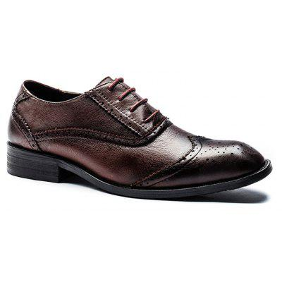 Four Seasons First Layer of Leather Bottom Rubber Business Shoes
