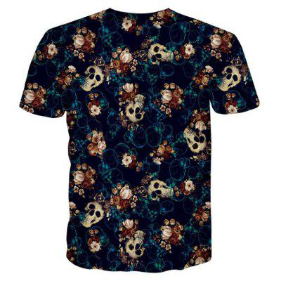Street Fashion Personality and Creative Skull 3D Digital Print T-Shirt Hot StyleMens T-shirts<br>Street Fashion Personality and Creative Skull 3D Digital Print T-Shirt Hot Style<br><br>Collar: Round Neck<br>Material: Polyester<br>Package Contents: 1xT-shirt<br>Pattern Type: Skulls<br>Sleeve Length: Short Sleeves<br>Style: Fashion<br>Weight: 0.2000kg