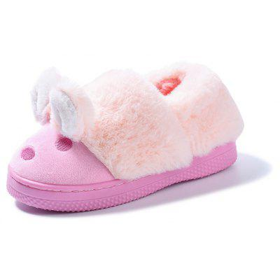 Buy PINK 19 Warrior Warm Winter New Girls Back Home Leisure Slippers Cartoon Thickening for $16.73 in GearBest store