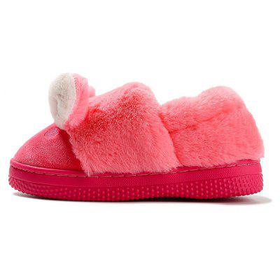 Buy WATERMELON RED 23 Warrior Warm Winter New Girls Back Home Leisure Slippers Cartoon Thickening for $16.73 in GearBest store