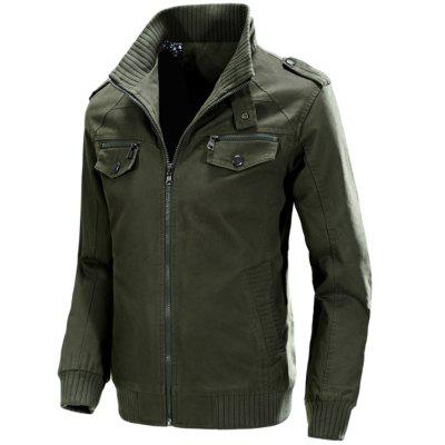 Casual MenS Jacket Cotton Washed Coats outdoor JacketMens Jackets &amp; Coats<br>Casual MenS Jacket Cotton Washed Coats outdoor Jacket<br><br>Clothes Type: Jackets<br>Collar: Stand Collar<br>Fabric Type: Broadcloth<br>Material: Cotton<br>Package Contents: 1XJacket<br>Season: Fall, Winter<br>Shirt Length: Regular<br>Sleeve Length: Long Sleeves<br>Style: Casual<br>Weight: 0.8600kg