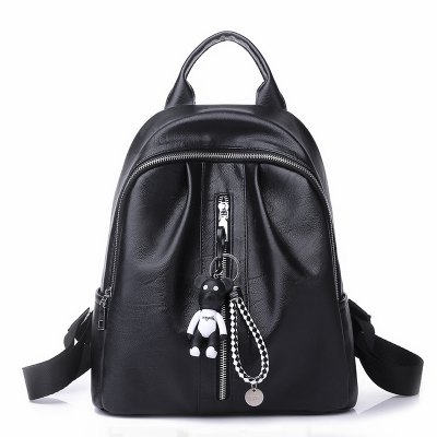 The New Style of Autumn and Winter Women'S Handbag of Korean Version of The Pure Color Double Shoulder Bag Female PU