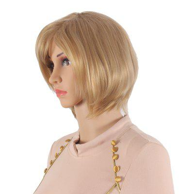 Golden Short Bob Style Heat Resistant Synthetic Hair Wigs for Women SW0016A-O