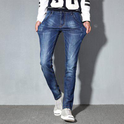 MenS Straight Fit Stretchy Denim JeansMens Pants<br>MenS Straight Fit Stretchy Denim Jeans<br><br>Closure Type: Zipper Fly<br>Fabric Type: Canvas<br>Fit Type: Straight<br>Material: Cotton, Spandex, Polyester<br>Package Contents: 1xJeans<br>Pant Length: Long Pants<br>Pant Style: Straight<br>Waist Type: Mid<br>Wash: Light<br>Weight: 0.4000kg