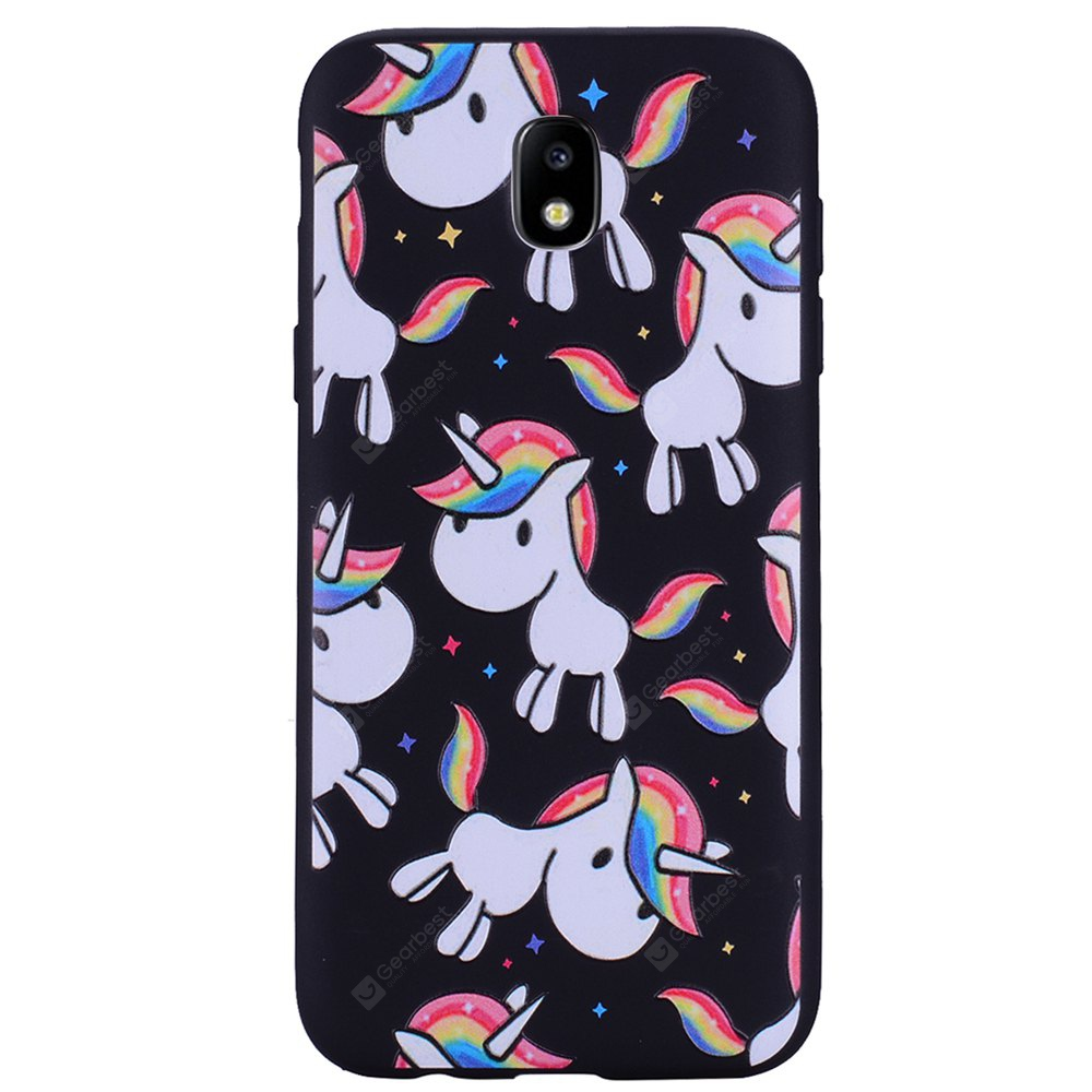 Case For Samsung Galaxy J7 2017 J730 Eurasian Version of The Painted Unicorn TPU Mobile Phone Case