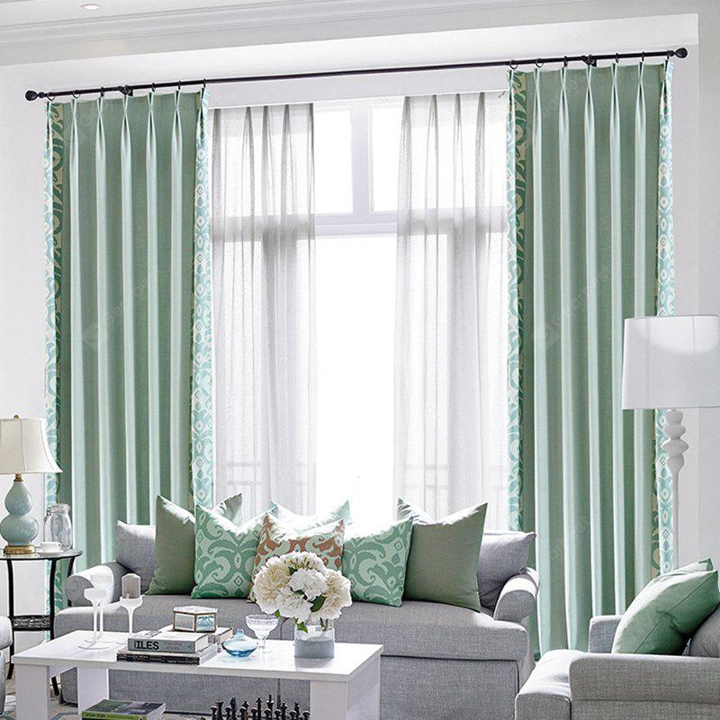 Modern Cotton Printing Blackout Window Curtains For Living Room Bedroom 5 Color
