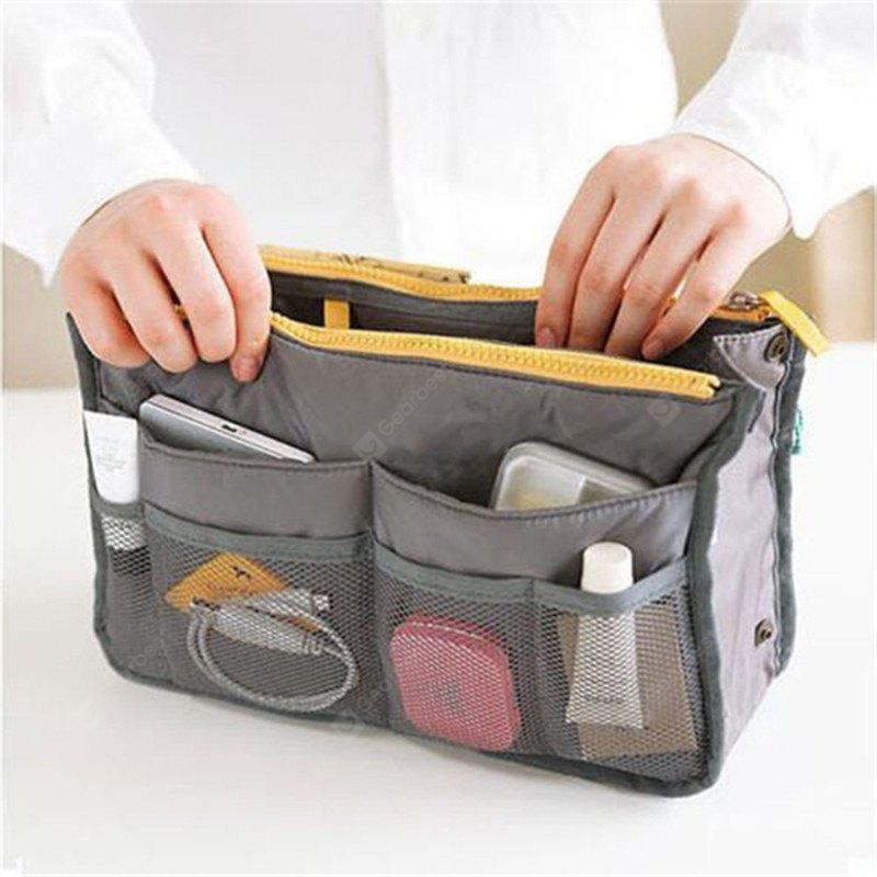 New Double Zipper Multifunction Cosmetic Bag Portable Package Sort Out Sleeve Large Nylon Trend Makeup Beauty