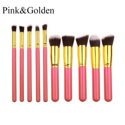 10 pcs Makeup Brush Set Powder Face Contour Eyeshadow Foundation Professional Beauty Cosmetic Tool Kit