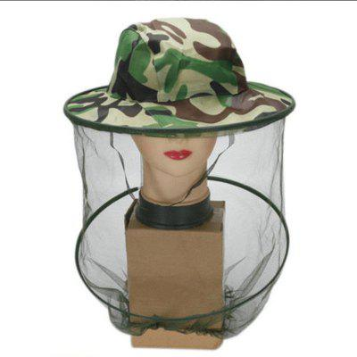 Beehives Outdoor Camouflage Shawl Hat Wild Mosquito Bees Hat Jungle Cap Fishing Sunscreen