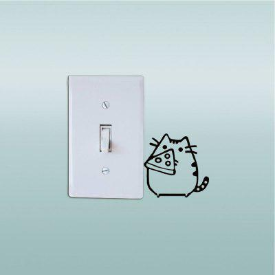 Cat-121 Fat Cats Eating Cheese Vinyl Switch Sticker Cute Cartoon Animal Vinyl Wall StickerWall Stickers<br>Cat-121 Fat Cats Eating Cheese Vinyl Switch Sticker Cute Cartoon Animal Vinyl Wall Sticker<br><br>Art Style: Plane Wall Stickers, Toilet Stickers<br>Color Scheme: Black<br>Effect Size (L x W): 6.6 x 6.6cm<br>Function: Decorative Wall Sticker<br>Layout Size (L x W): 6.6 x 6.6cm<br>Material: Vinyl(PVC)<br>Package Contents: 1 x Wall Sticker<br>Package size (L x W x H): 8.00 x 8.00 x 1.00 cm / 3.15 x 3.15 x 0.39 inches<br>Package weight: 0.0500 kg<br>Product size (L x W x H): 6.60 x 6.60 x 0.01 cm / 2.6 x 2.6 x 0 inches<br>Product weight: 0.0400 kg<br>Quantity: 1<br>Sizes: Others<br>Subjects: Fashion,Vintage,Others,Letter,Cute,Cartoon,Music,Famous,Romance<br>Suitable Space: Living Room,Hotel,Kids Room,Pathway,Kids Room,Boys Room,Girls Room,Game Room<br>Type: Plane Wall Sticker