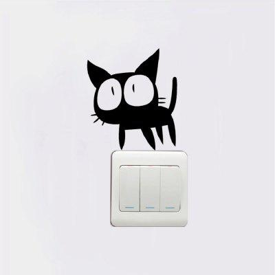 Cat-129 Funny Cat Light Switch Sticker Wall Art Vinyl DecalWall Stickers<br>Cat-129 Funny Cat Light Switch Sticker Wall Art Vinyl Decal<br><br>Art Style: Plane Wall Stickers, Toilet Stickers<br>Color Scheme: Black<br>Effect Size (L x W): 9.3  x 10.5cm<br>Function: Decorative Wall Sticker<br>Layout Size (L x W): 9.3  x 10.5cm<br>Material: Vinyl(PVC)<br>Package Contents: 1 x Wall Sticker<br>Package size (L x W x H): 12.00 x 12.00 x 1.00 cm / 4.72 x 4.72 x 0.39 inches<br>Package weight: 0.0500 kg<br>Product size (L x W x H): 9.30 x 10.50 x 0.01 cm / 3.66 x 4.13 x 0 inches<br>Product weight: 0.0400 kg<br>Quantity: 1<br>Sizes: Others<br>Subjects: Fashion,Vintage,Others,Letter,Cute,Cartoon,Music,Famous,Romance<br>Suitable Space: Living Room,Hotel,Kids Room,Pathway,Kids Room,Boys Room,Girls Room,Game Room<br>Type: Plane Wall Sticker