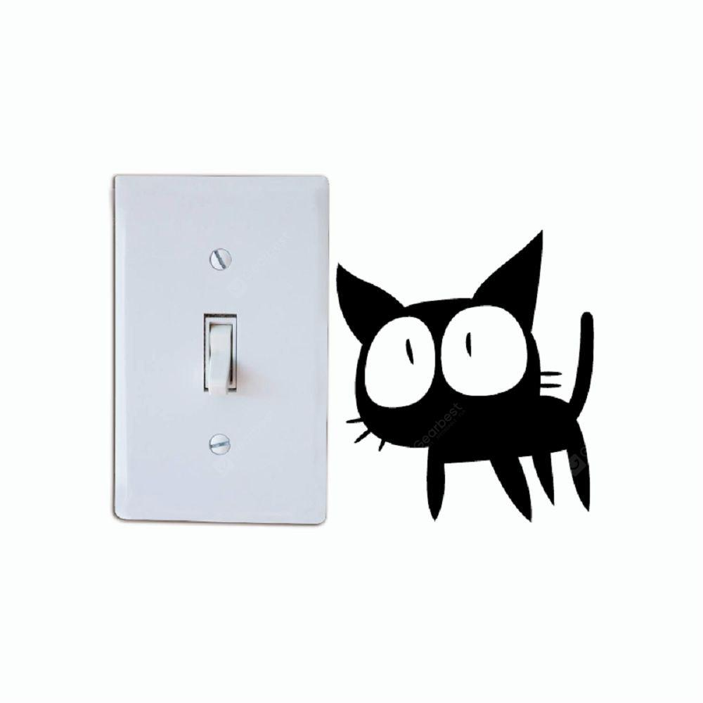 Cat-129 Funny Cat Light Switch Sticker Wall Art Decalcomania del vinile