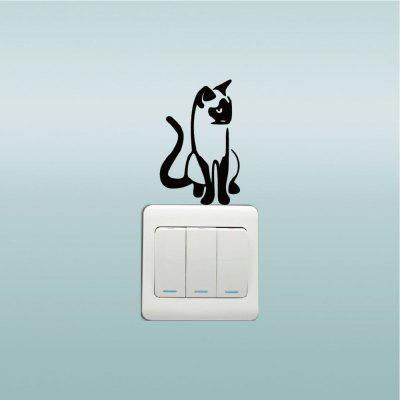 Cat-146 Siamese Cat Switch Sticker Creative Cartoon Animal Silhouette Vinyl Wall StickerWall Stickers<br>Cat-146 Siamese Cat Switch Sticker Creative Cartoon Animal Silhouette Vinyl Wall Sticker<br><br>Art Style: Plane Wall Stickers, Toilet Stickers<br>Color Scheme: Black<br>Effect Size (L x W): 5.4 x 8.5cm<br>Function: Decorative Wall Sticker<br>Layout Size (L x W): 5.4 x 8.5cm<br>Material: Vinyl(PVC)<br>Package Contents: 1 x Wall Sticker<br>Package size (L x W x H): 10.00 x 10.00 x 1.00 cm / 3.94 x 3.94 x 0.39 inches<br>Package weight: 0.0500 kg<br>Product size (L x W x H): 5.40 x 8.50 x 0.01 cm / 2.13 x 3.35 x 0 inches<br>Product weight: 0.0400 kg<br>Quantity: 1<br>Sizes: Others<br>Subjects: Fashion,Vintage,Others,Letter,Cute,Cartoon,Music,Famous,Romance<br>Suitable Space: Living Room,Hotel,Kids Room,Pathway,Kids Room,Boys Room,Girls Room,Game Room<br>Type: Plane Wall Sticker