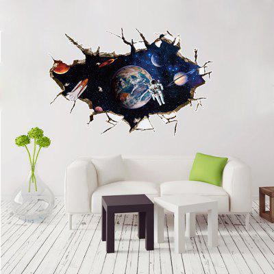 SK9066A 3D Space,The Astronauts Decorative Wall Stickers /Wall DecalWall Stickers<br>SK9066A 3D Space,The Astronauts Decorative Wall Stickers /Wall Decal<br><br>Art Style: Plane Wall Stickers, Toilet Stickers<br>Color Scheme: Multicolor<br>Function: Decorative Wall Sticker, 3D Effect<br>Layout Size (L x W): 60 x 90 cm<br>Material: Paper, Vinyl(PVC)<br>Package Contents: 1 x wall sticker<br>Package size (L x W x H): 60.00 x 4.00 x 4.00 cm / 23.62 x 1.57 x 1.57 inches<br>Package weight: 0.2000 kg<br>Quantity: 1<br>Sizes: 60 x 90cm<br>Subjects: Cartoon,3D,Transportation,Fantasy<br>Suitable Space: Living Room,Bedroom,Kids Room,Corridor,Kids Room,Study Room / Office<br>Type: 3D Wall Sticker
