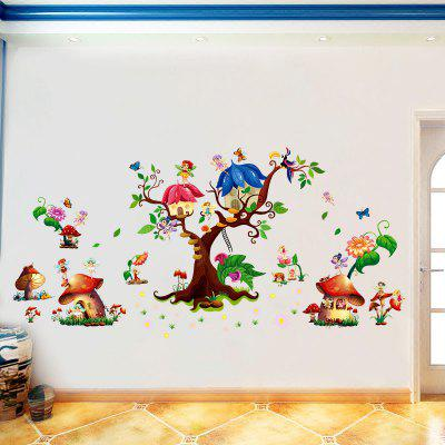 M9272 Mushroom House Wall Stickers PVC Large Trees Fairy Wall Decals for Baby RoomWall Stickers<br>M9272 Mushroom House Wall Stickers PVC Large Trees Fairy Wall Decals for Baby Room<br><br>Art Style: Plane Wall Stickers, Toilet Stickers<br>Color Scheme: Multicolor<br>Function: 3D Effect, Decorative Wall Sticker<br>Layout Size (L x W): 60 x 90 cm<br>Material: Vinyl(PVC), Paper<br>Package Contents: 1 x wall sticker<br>Package size (L x W x H): 60.00 x 4.00 x 4.00 cm / 23.62 x 1.57 x 1.57 inches<br>Package weight: 0.2000 kg<br>Quantity: 1<br>Sizes: 60 x 90cm<br>Subjects: Cartoon,Botanical,3D,Romance<br>Suitable Space: Living Room,Bedroom,Kids Room,Corridor,Kids Room,Study Room / Office<br>Type: 3D Wall Sticker, Plane Wall Sticker