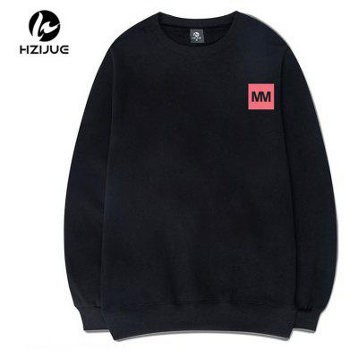 The Letter MM Printing Sweatshirt Round CollarMens Hoodies &amp; Sweatshirts<br>The Letter MM Printing Sweatshirt Round Collar<br><br>Material: Cotton<br>Package Contents: 1xSweatshirt<br>Shirt Length: Regular<br>Sleeve Length: Full<br>Style: Casual<br>Weight: 0.5000kg