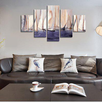 QiaoJiaHuaYuan No Frame Canvas Abstract Boat Drawing Room Sofa Background Decoration Hanging PaintingPrints<br>QiaoJiaHuaYuan No Frame Canvas Abstract Boat Drawing Room Sofa Background Decoration Hanging Painting<br><br>Brand: Qiaojiahuayuan<br>Craft: Print<br>Form: Five Panels<br>Material: Canvas<br>Package Contents: 5 x Print<br>Package size (L x W x H): 42.00 x 5.00 x 5.00 cm / 16.54 x 1.97 x 1.97 inches<br>Package weight: 0.4000 kg<br>Painting: Without Inner Frame<br>Product weight: 0.3900 kg<br>Shape: Vertical Panoramic<br>Style: Modern/Contemporary, Abstract<br>Subjects: Abstract<br>Suitable Space: Living Room