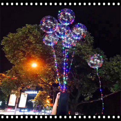 Luminous Led Balloon LED Air Balloon String Lights Round Bubble Helium Balloons Kids Toy Wedding Party Christmas Deco 100pcs lot 12inch gold high quality printed snowflake latex balloon air balls inflatable wedding party decoration float balloons
