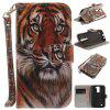 Custodia Cover per LG K8 Manchurian Tiger PU + TPU in pelle con supporto e slot per schede Magnetic Closure - COLORI MISTI