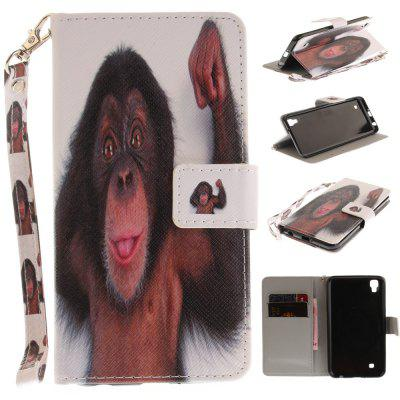 Custodia Cover per LG Xpower Monkey PU + TPU in Pelle con Supporto e Slot per Schede Magnetic Closure