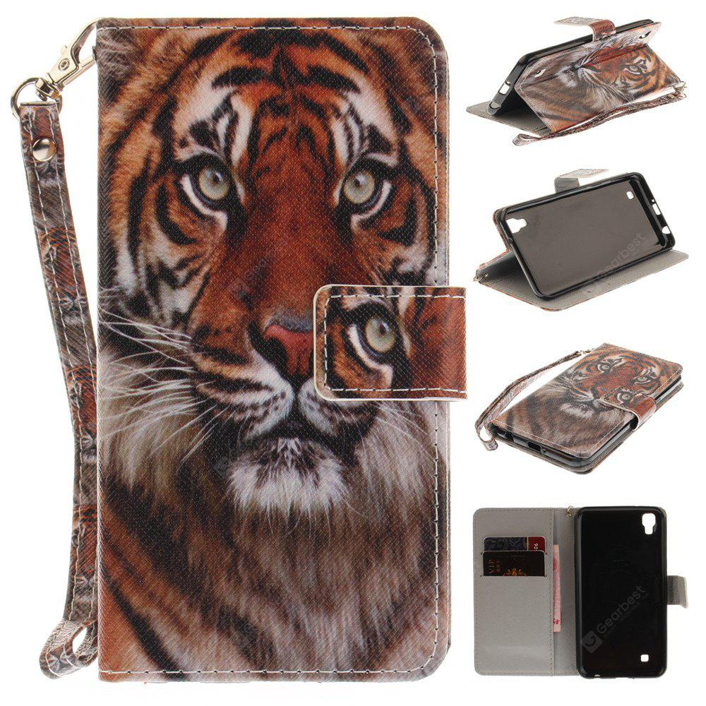 Custodia per LG Xpower Manchurian Tiger PU + TPU in Pelle con Supporto e Slot per Schede Magnetic Closure