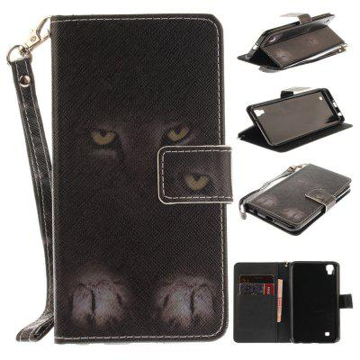 Custodia per LG Xpower Mystery Cat PU + TPU in Pelle con Supporto e Slot per Schede