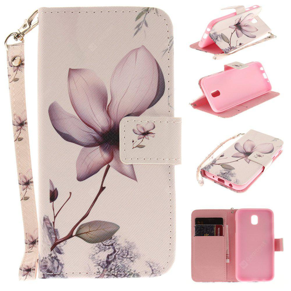 Cover Case for Samsung Galaxy J5 2017 J530 Magnolia PU+TPU Leather with Stand and Card Slots Magnetic Closure