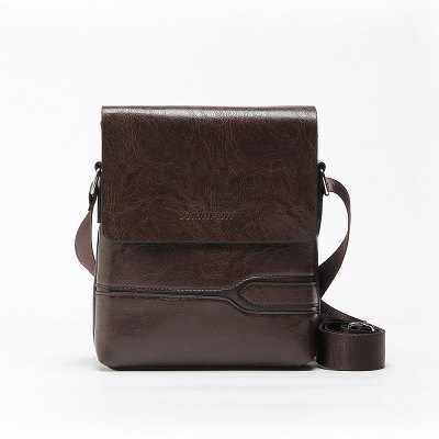 Pu Bolsa de couro Messenger Bag Travel Travel Crossbody Shoulder Bag para homem Black Brown Shoulder Bag