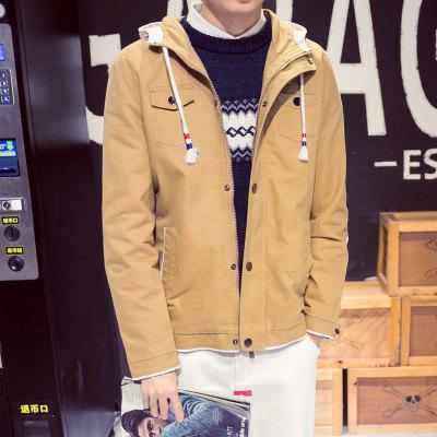 Mens Cotton Hooded Casual JacketMens Jackets &amp; Coats<br>Mens Cotton Hooded Casual Jacket<br><br>Clothes Type: Jackets<br>Collar: Hooded<br>Material: Cotton, Polyester<br>Package Contents: 1 x Jacket<br>Season: Spring, Fall, Winter<br>Shirt Length: Regular<br>Sleeve Length: Long Sleeves<br>Style: Casual<br>Weight: 0.7000kg